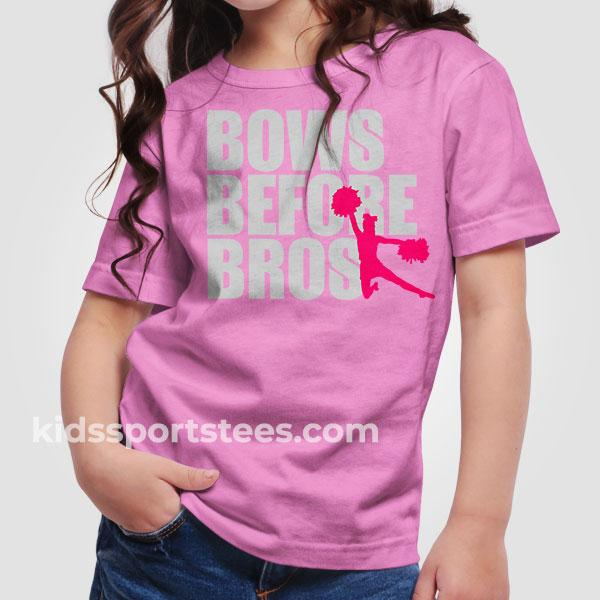 Bows Before Bros Cheerleading T-Shirt