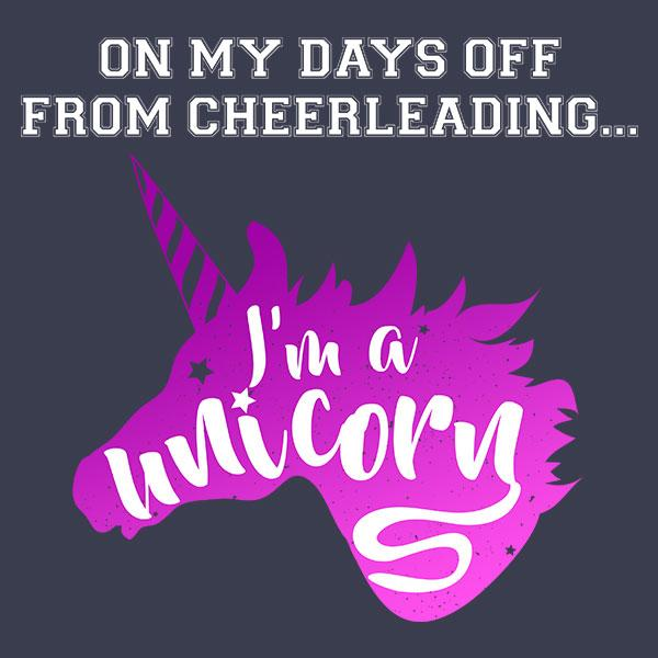 Cheerleading Unicorn T-Shirt