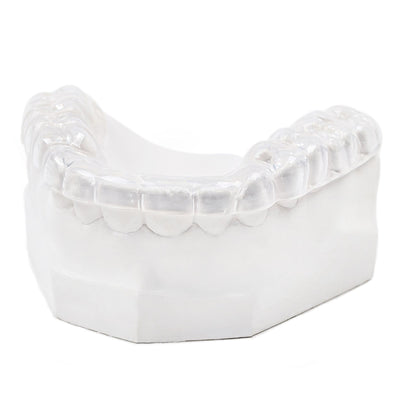 Hybrid hard soft night guard for teeth grinding bruxism