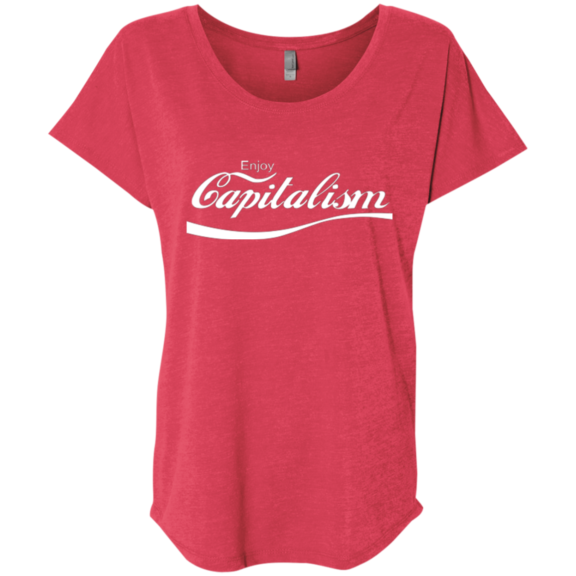 Enjoy Capitalism: Ladies' Triblend Dolman Sleeve