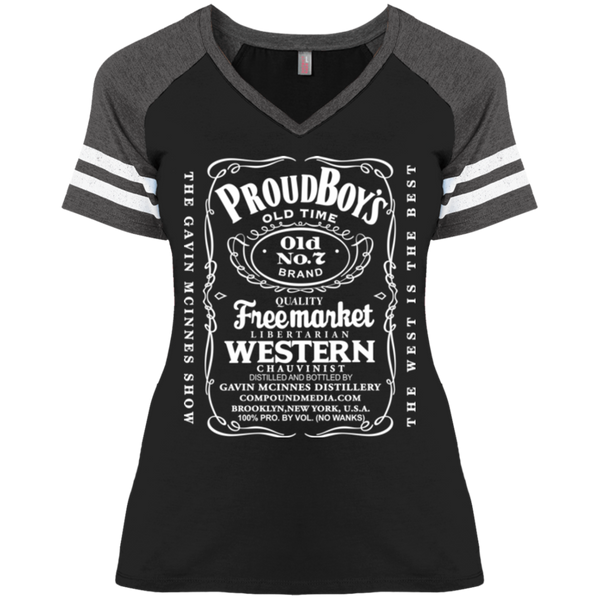 PB& Jack : Ladies' Game V-Neck T-Shirt