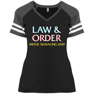 Law & Order: VSU :Ladies' Game V-Neck T-Shirt