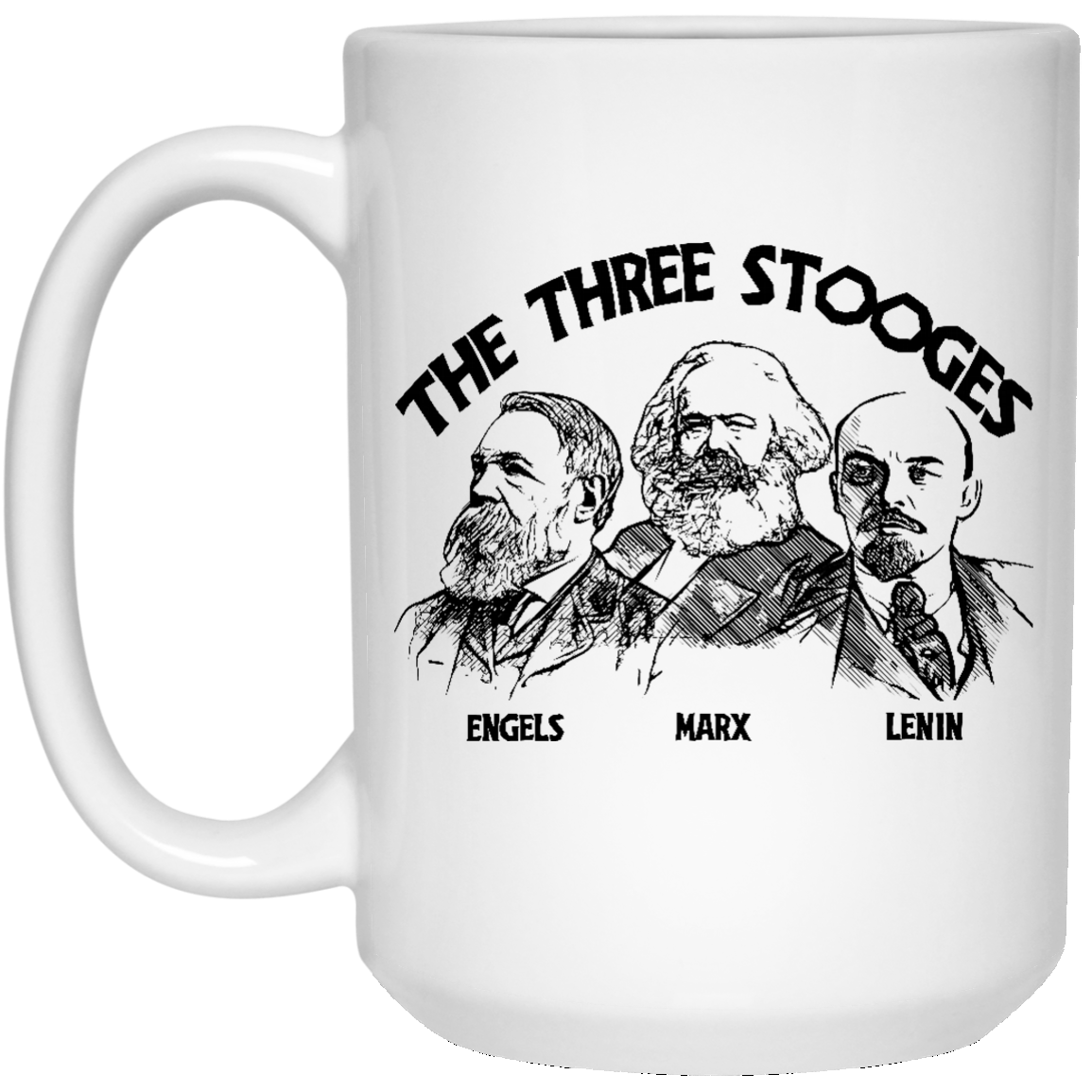 The Three Stooges: 15 oz. White Mug