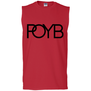 POYB(BLACK): Men's Ultra Cotton Sleeveless T-Shirt