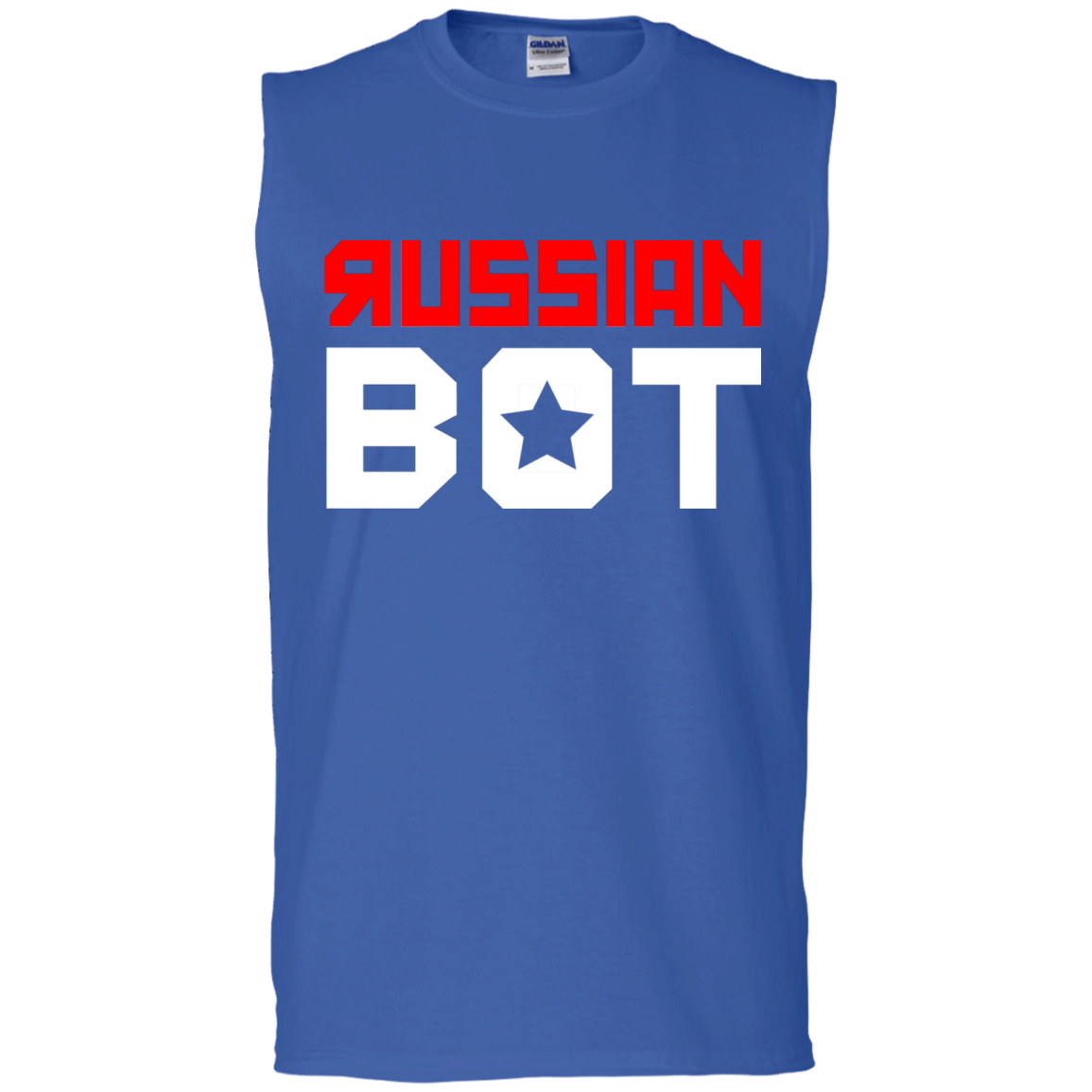 RUSSIAN BOT: Men's Ultra Cotton Sleeveless T-Shirt