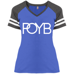 POYB(WHITE) : Ladies' Game V-Neck T-Shirt