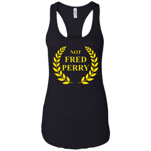 Not Fred Perry: Ladies Ideal Racerback Tank