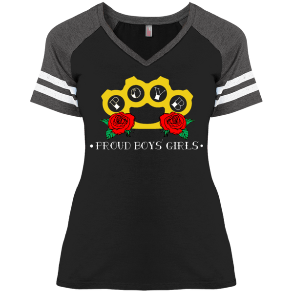 BRASS KNUCKLES :Ladies' Game V-Neck T-Shirt