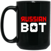 RUSSIAN BOT: 15 oz. Black Mug