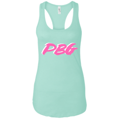 PBG PINK: Ladies Ideal Racerback Tank
