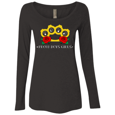 Brass Knuckles: Level Ladies' Triblend LS Scoop