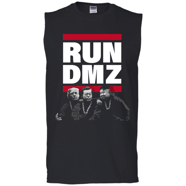 RUN DMZ:  Men's Ultra Cotton Sleeveless T-Shirt