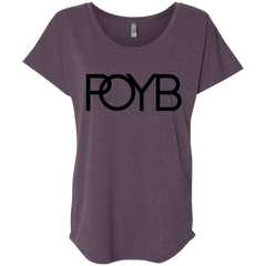 POYB(BLACK): Ladies' Triblend Dolman Sleeve