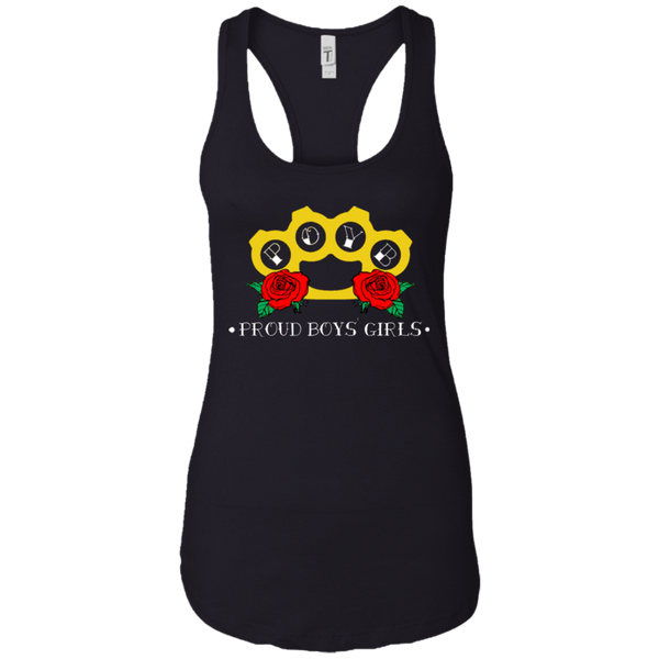 BRASS KNUCKLES: Ladies Ideal Racerback Tank