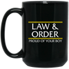 LAW & ORDER: 15 oz. Black Mug