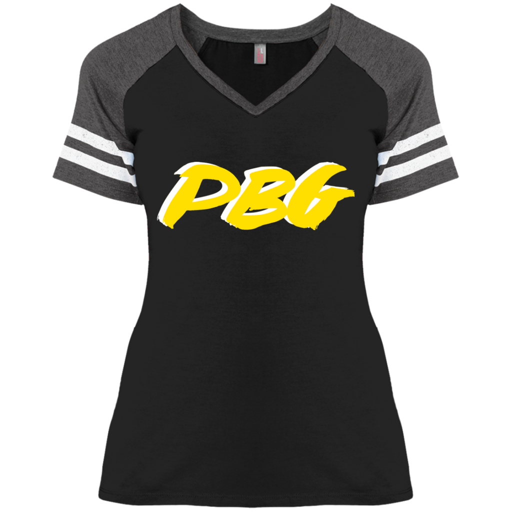 PBG GOLD:Ladies' Game V-Neck T-Shirt