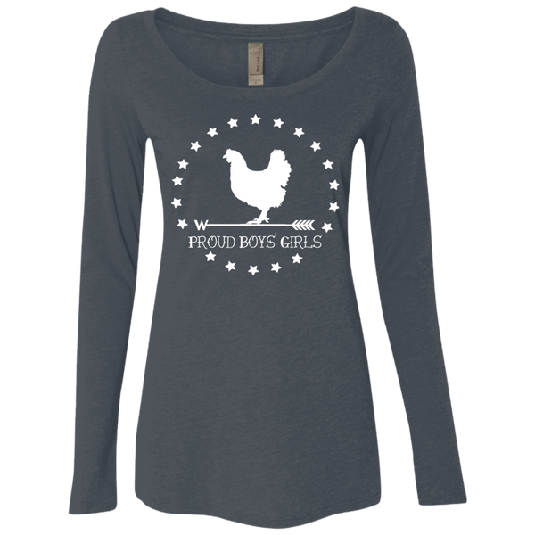 BWH: Ladies' Triblend LS Scoop