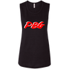 PBG RED: Ladies' Flowy Muscle Tank