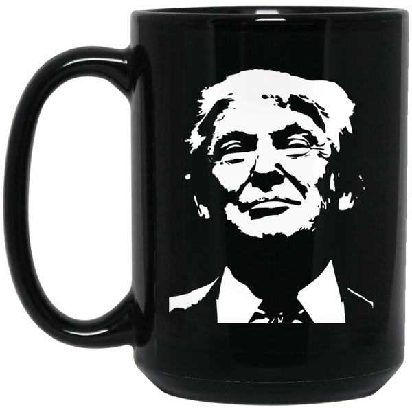 CAN'T STUMP THE TRUMP:15 oz. Black Mug