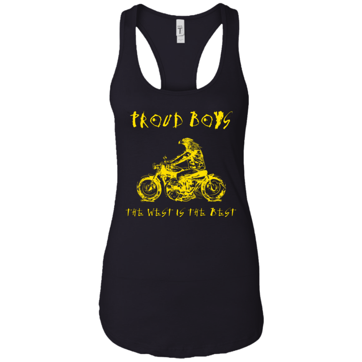 GO WEST(GOLD): Ladies Ideal Racerback Tank