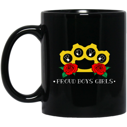 BRASS KNUCKLES: 11 oz. Black Mug