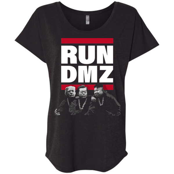 RUN DMZ: Ladies' Triblend Dolman Sleeve