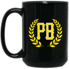 PB LOGO: 15 oz. Black Mug
