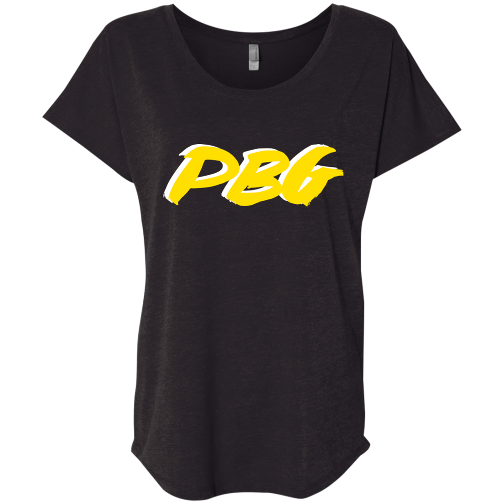 PBG(GOLD): Ladies' Triblend Dolman Sleeve