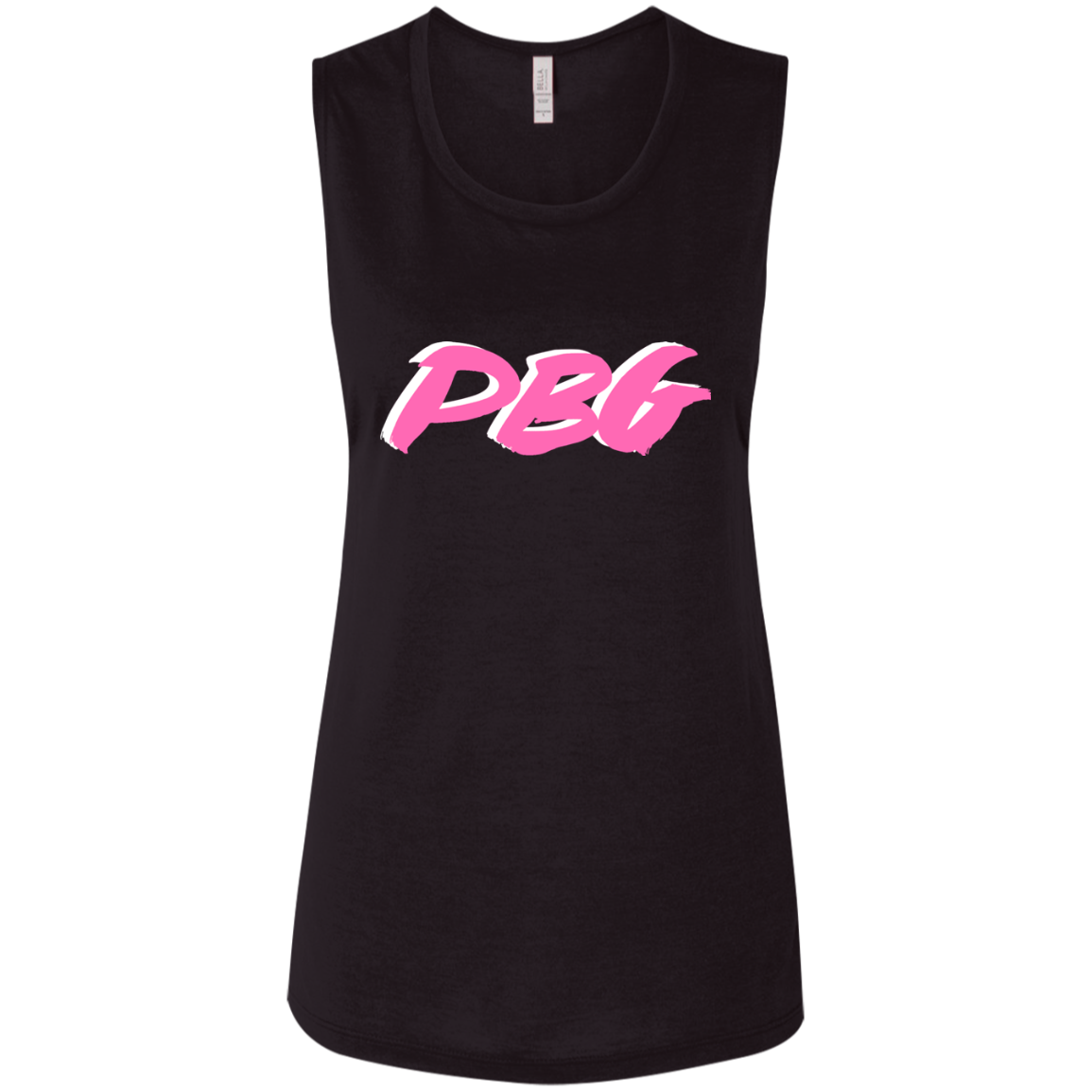 PBG PINK: Ladies' Flowy Muscle Tank