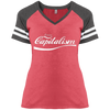 Enjoy Capitalism : Ladies' Game V-Neck T-Shirt