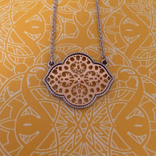 Silver and Gold Filigree Pendant