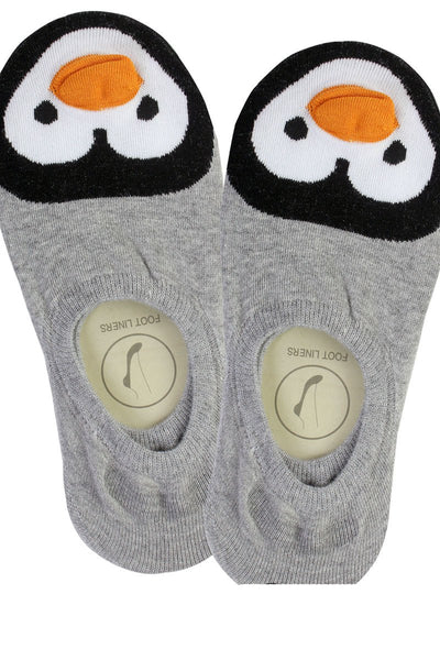 Ladies penguin print no show socks