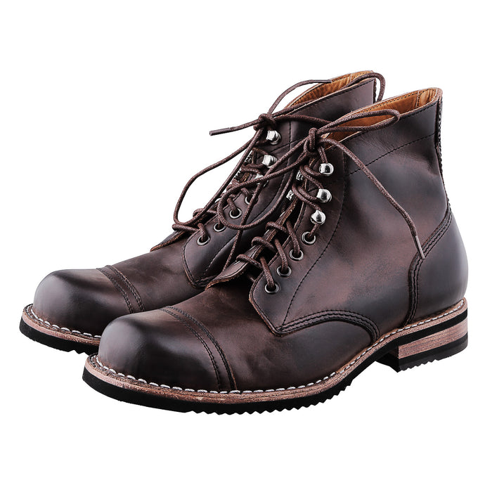 THE BJORN | DARK BROWN CRAZY HORSE