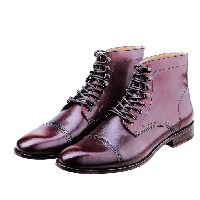 LOKI CAP TOE BROGUE | BURGUNDY