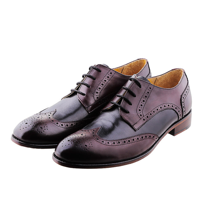 LOKI WINGTIP DERBY | BLACK & DARK BURGUNDY