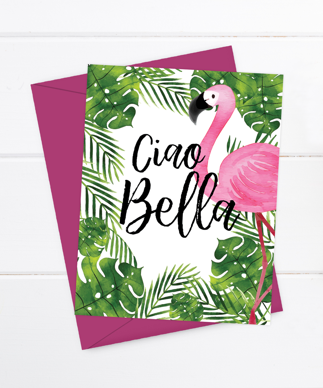 Ciao Bella - Flamingo Card