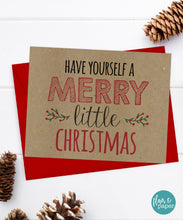 Christmas Card, Holiday Card, Kraft Card