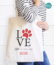 Personalized Paw/Dog Tote Bag