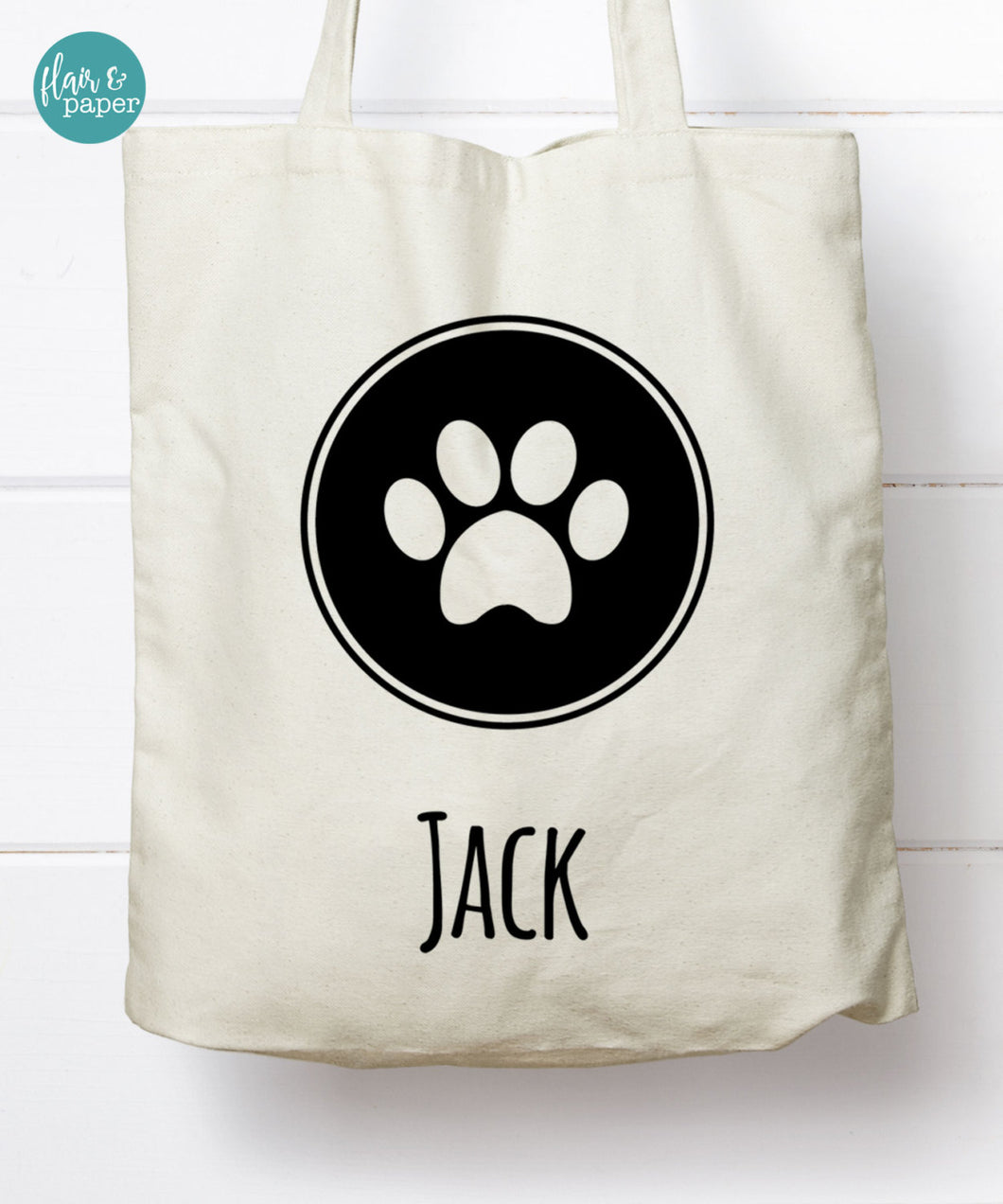 Personalized Pawprint Tote Bag