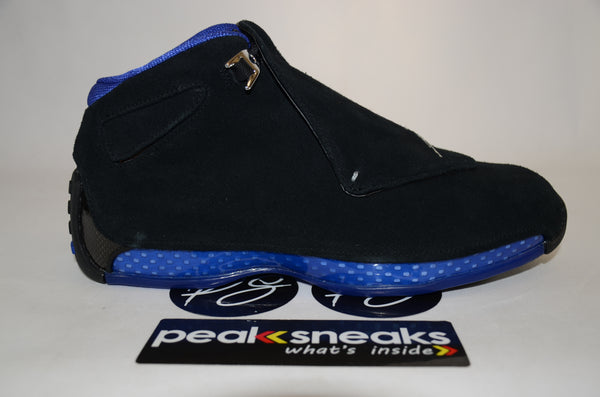 Nike Air Jordan 18 Retro Black Sport Royal 2018 DS