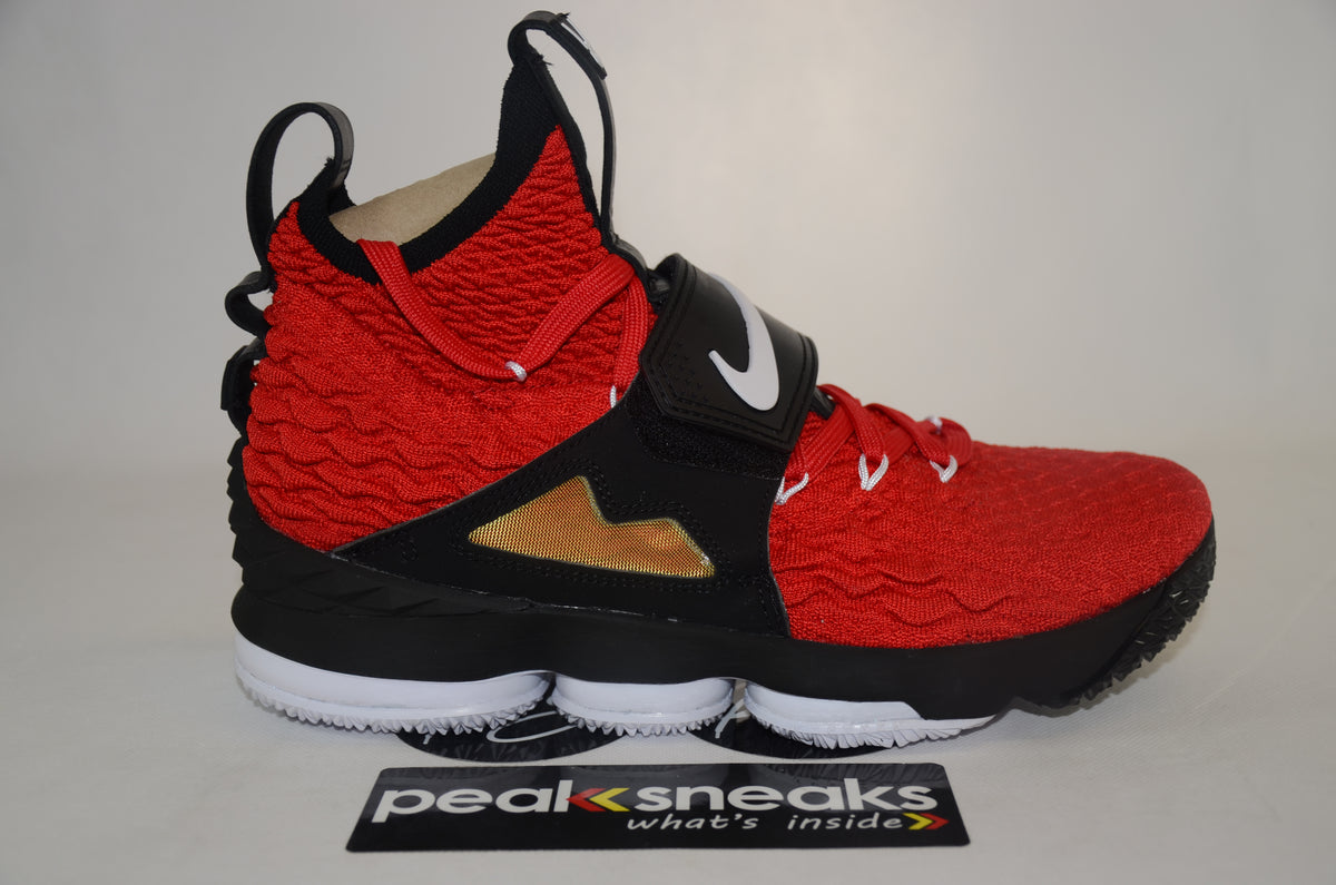 outlet store 97496 3eff2 Nike Lebron 15 Red Diamond Turf DS