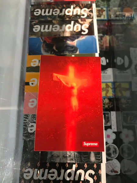Supreme Piss Christ Sticker