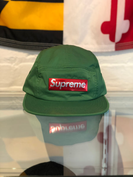 Supreme Liquid Metal Logo Camp Cap Green