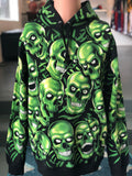 Supreme Skull Pile Hooded Sweatshirt Green