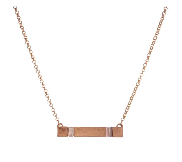 All Rosy Bar Necklace
