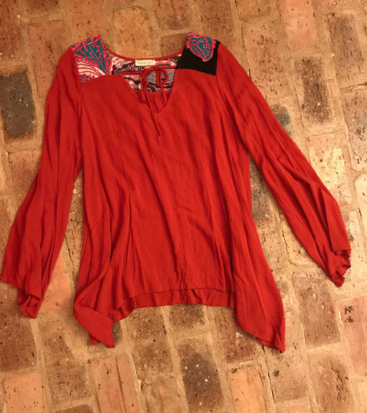 Rust Batwing Blouse