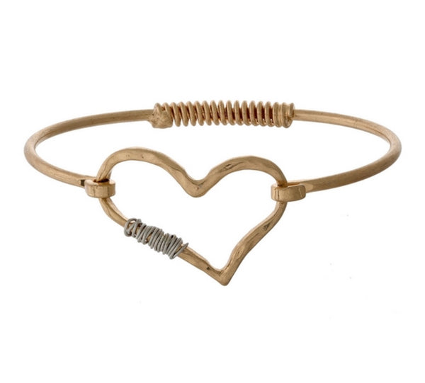 My Heart Bangle Bracelet