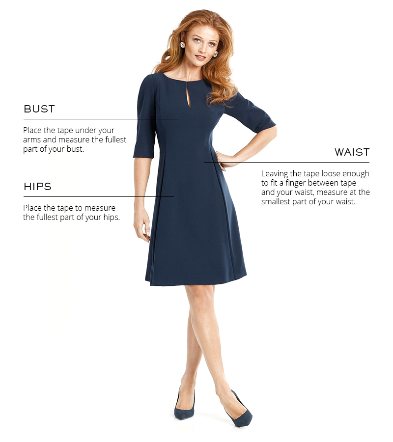 Dress Size Guide by Cynthia Fields New York