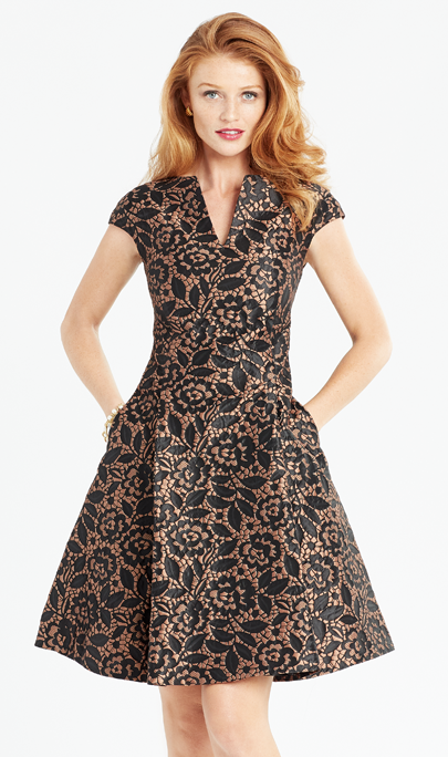 Fit & Flare Brocade Dress from Cynthia Fields New York
