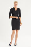 Double Knit Sheath Dress in black